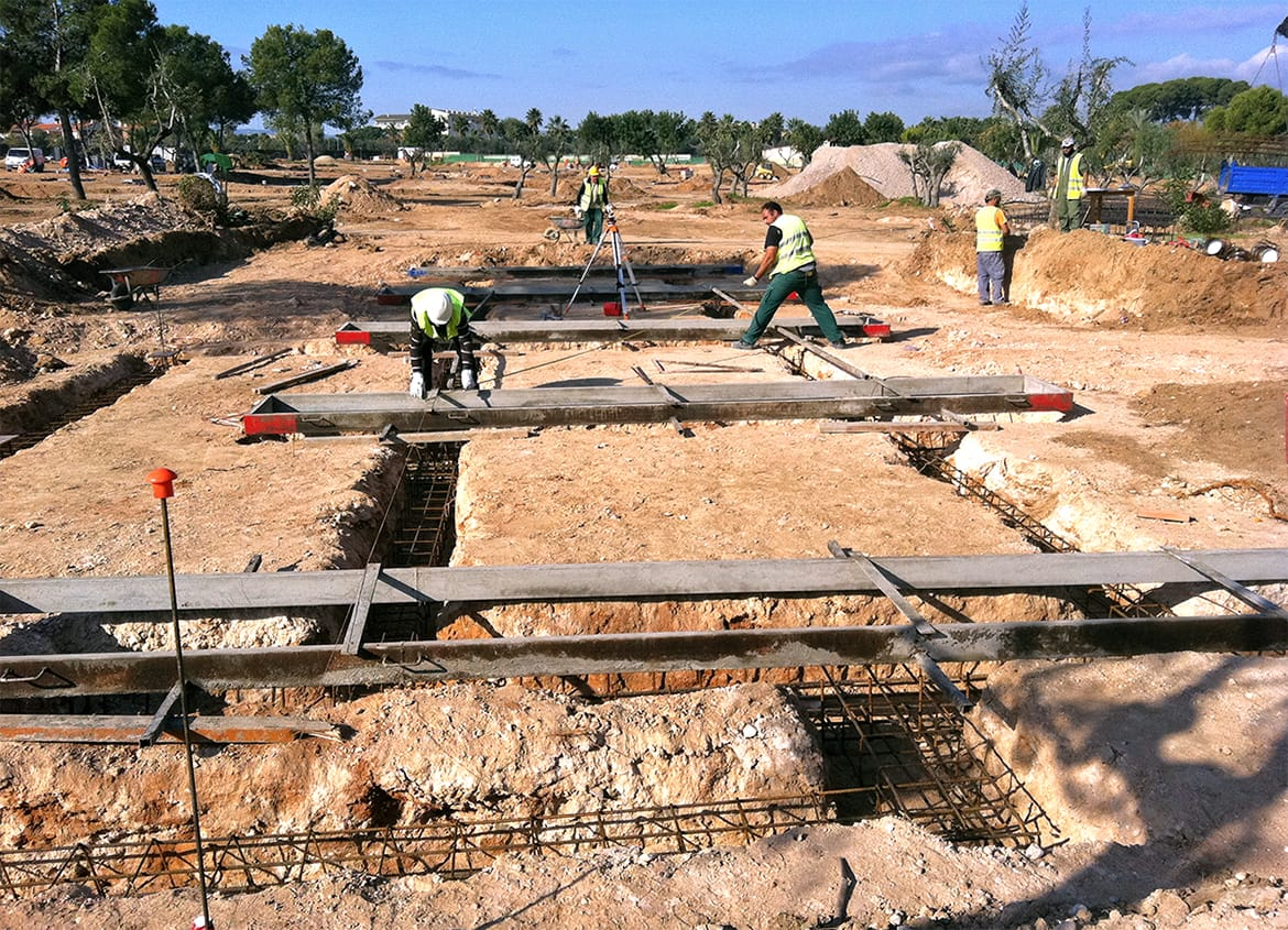 Foundation works. 170 Bungalows, Commercial Area and Offices at the Cambrils Park Resort (Cambrils)