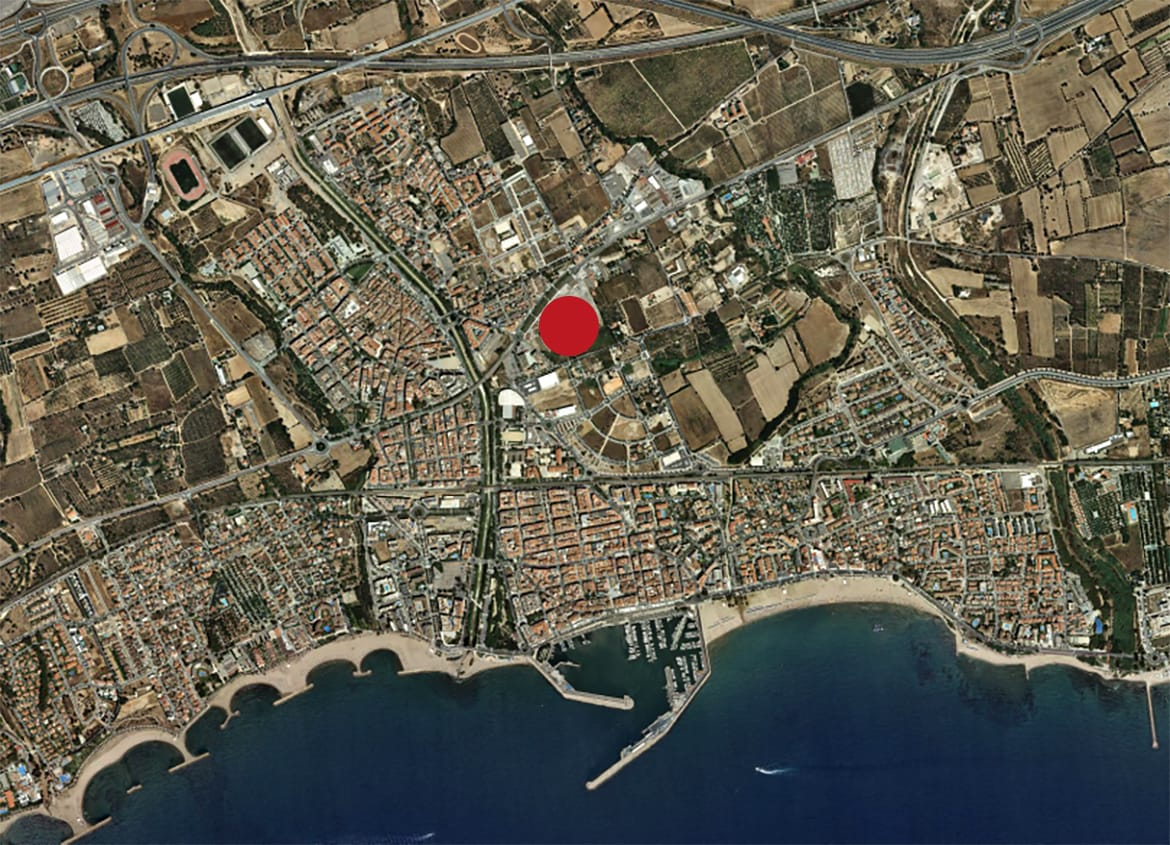 Location plan. Urban Plan 'Sector 04 - Els Antígons' (Cambrils)