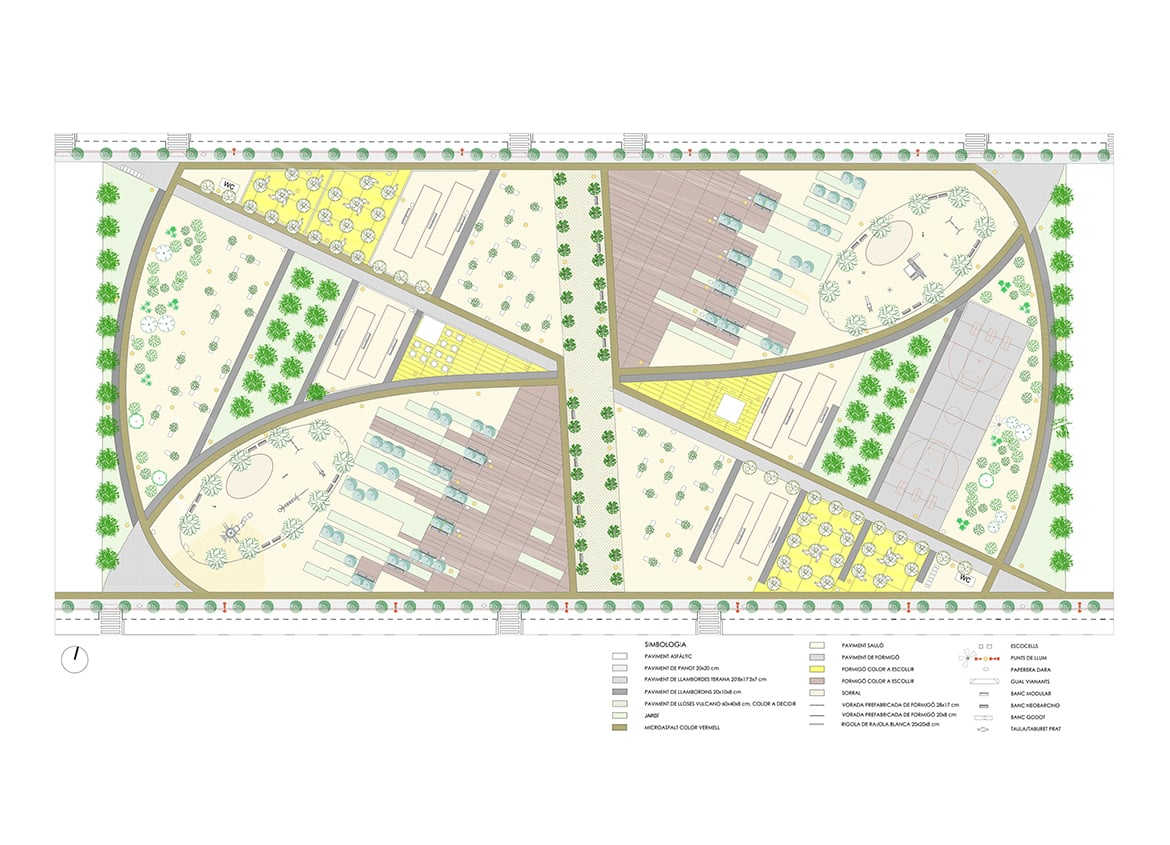 Proposed public space. Urban Plan 'Sector PP-4d - Sínia de Cabeces' (Torredembarra)